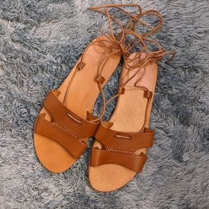 {Urban Outfitters} Brand New Tie Around Sandals